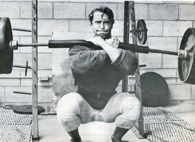 arnold schwarzenegger front squat