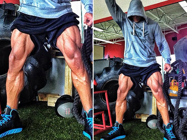 Dwayne Johnson workout legs