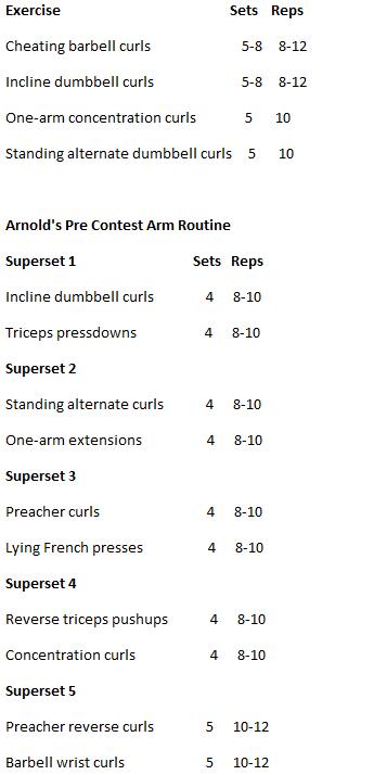 Arnold's arm routine